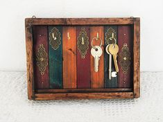 Key Holder For Wall, Rustic Moroccan Decor,  Key Rack , Antique Effect Key Box , Wood, Organizer for Keys, Key Hooks, Keys, Key Storage