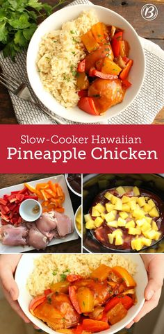 This easy-to-make weeknight dinner will whisk you away to the tropics in three simple steps. This colorful dish is full of the good stuff: Pineapple, red and yellow bell peppers pair perfectly with rice, chicken and honey BBQ sauce for a well-rounded meal. With just 15 minutes of prep, this dish makes itself in the slow cooker in a few hours – no-fuss necessary.