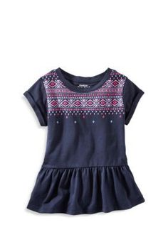 OshKosh Bgosh  Embellished Peplum Top Toddler Girls
