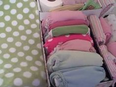Cloth Diaper Changing Table Organization