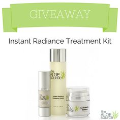 I just entered to win the Instant Radiance Kit from @TheAloeSource! You can too! #Aloe #Jojoba