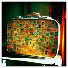 Upcycled suitcase by Ambrayasmin. @Riccardo Gemelli is that what you're looking for?
