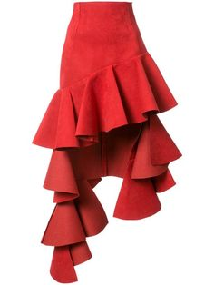 Skirts For Women – My WordPress Website Red Skirts, Cute Skirts, Cute Dresses, Ruffle Skirt, Dress Skirt, Layering Outfits, Skirt Outfits, Classy Outfits, Ready To Wear
