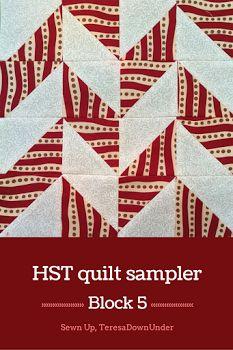 1 video tutorial: 16 half square triangles (HST), 16 different blocks, 1 quilt…