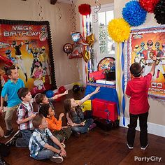 Power Rangers Party Ideas: Games & Activities - Click to View Larger