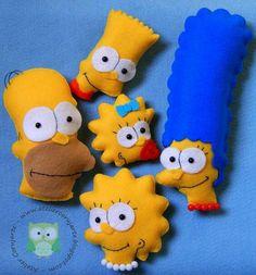 Simpsons em feltro