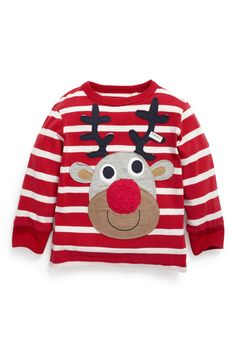 Buy Long Sleeve Appliqué Rudolph Top (3mths-6yrs) from the Next UK online shop