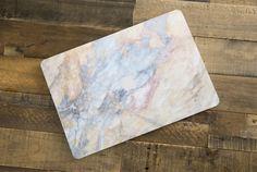 Bleu pâle et pêche en marbre macbook macbook pro air macbook rétine portable ordinateur Sticker autocollant Housse étui