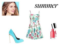 """""""Untitled #77"""" by cuca110 ❤ liked on Polyvore featuring mode, One Green Elephant, Clinique et Giuseppe Zanotti"""