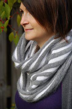 Ravelry: Terrain pattern by Jennifer Ferrara Angora/wool/alpaca, drapey yarn. DK and Sport weight versions.