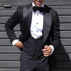 The Absolute TUXEDO @absolutebespoke @tomaslasoargos #tuxedo #black #style #tpattern #colors #vest #bowtie #shirt all by #absolutebespoke www.absolutebespoke.com