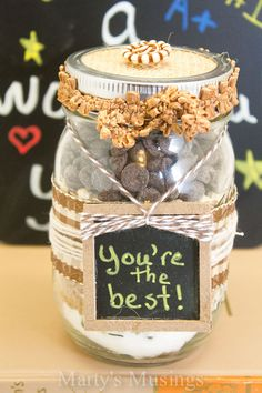 Back to School Gifts in a Jar from Marty's Musings #CraftyJars