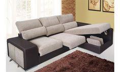 Shiito le presenta este bonito sofá de tres plazas con chaise longue derecha, caracterizado por su estilo y elegancia. Además hay que añadir que incorpora dos asientos deslizantes, cabezales reclinables y dos puff bajo el brazo del sofá para una comodidad máxima, y todo esto con la mayor calidad. Un sofá que no pasará desapercibido, ¡No se lo piense más!.