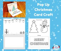 Get creative with this pop-up Christmas Card Craft for kids. Choose from a Christmas Tree or Snowman to add a 3D element. From Super Simple Learning.