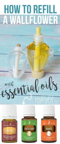 how to refill a wallflower with essential oils