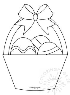 Trendy basket pattern drawing coloring pages 42 ideas Easter Coloring Pages, Colouring Pages, Coloring Books, Kids Colouring, Easter Activities, Easter Crafts For Kids, Easter Egg Basket, Easter Eggs, Easter Templates