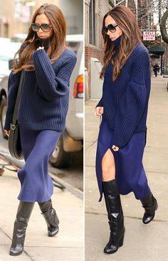 Victoria Beckham Outfits, Victoria Beckham Stil, Work Fashion, Skirt Fashion, Fashion Looks, Fashion Outfits, Style Fashion, Fall Winter Outfits, Autumn Winter Fashion