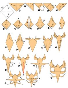 Scorpion en origami