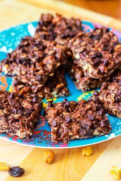 No Bake Chewy Fudge Granola Bars