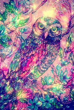 """Owl"" galaxy wallpaper I created!"