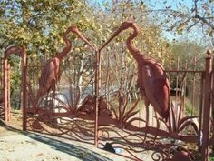 Walk the LA River in Elysian Valley on November Metal Garden Gates, Metal Gates, Metal Garden Art, Iron Gates, Garden Entrance, Entrance Gates, Driveway Entrance, Atwater Village, Gate Way
