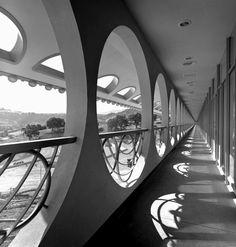 Marin County Civic Center. San Rafael, California. 1960 - 76. The last commission by Frank Lloyd Wright.1962