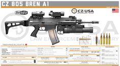 Airsoft Guns, Weapons Guns, Guns And Ammo, Tactical Equipment, Tactical Gear, Cz 805 Bren, Weapon Of Mass Destruction, Custom Guns, Assault Rifle