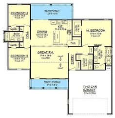 Plan 51763HZ: Exclusive 3-Bed Farmhouse with Tremendous Curb Appeal 1625 sq ft 3/2 with 2 X 6 available