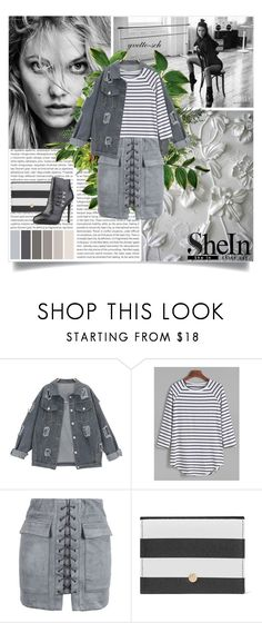"""""""Grey Outfit"""" by yvette-sch ❤ liked on Polyvore featuring Oris, WithChic, Dolce&Gabbana and Versace"""