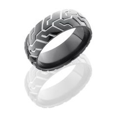 Tire Tread Men S Wedding Ring Silver Bands Black Rings Band For