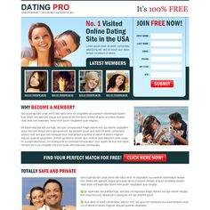 Dating profile landing page