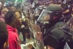 Violence erupted on the second night of protests in Charlotte following the…