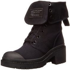 Marc By Marc Jacobs Black Combat Boot