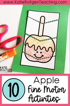 I love using these hands-on, apple themed fine motor activities for small groups, morning tubs, centers, and more! These interactive fine motor activities are perfect for your preschool or kindergarten students! As my students are developing strong fine motor skills, they are also building excellent pre-writing skills. Enjoy some fall fun while building strong fine motor skills with these engaging, apple-themed fine motor activities!