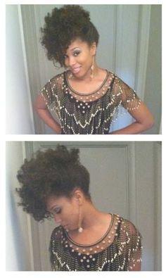 Pretty updo #natural hair style #natural hair