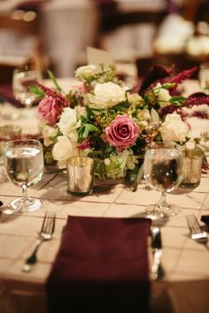 Purple + White Wedding Flowers