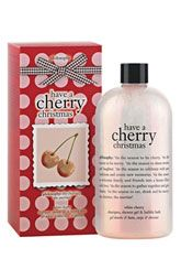 philosophy 'have a cherry christmas' shampoo, shower gel & bubble bath.  This stuff us AWESOME.