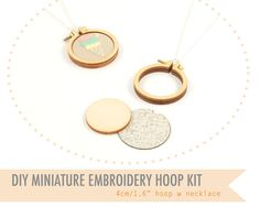 tiny embroidery hoop
