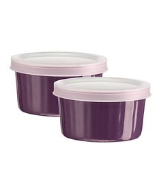 Take a look at this Home Essentials Purple Storage Ramekin - Set of Two by Home Essentials and Beyond on #zulily today!