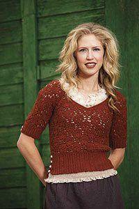 Beautiful lace crochet sweater.  Tatiana Pullover by Marlaina Bird.