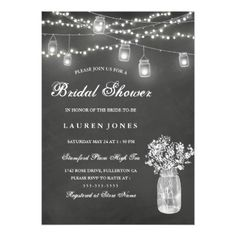 #shower - #Chalkboard Mason Jar Bridal Shower Invitation