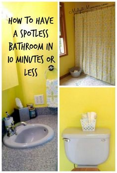 How to have a spotless bathroom in less then 10 minutes, get your bathroom spotlessly clean in 10 minutes or less
