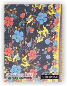 Baju Batik Online, Batik Modern, Mode Baju Batik, BJ10 KUNING