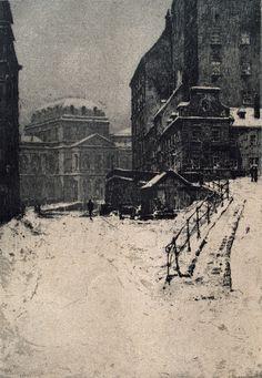 Luigi Kasimir (1881-1962) - Wien im Winter, Februar 1917