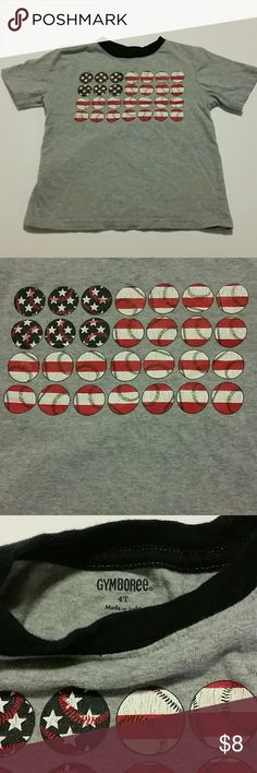 GYMBOREE, Red, White & Blue Baseball Cute TSHIRT Super cute for summer play in EUC price reflects general wear (Consider bundling to get more value out of the cost of Shipping and feel free to make offers on bundles)  Smokefree Petfree Clean Home Thank you for visiting my closet!! Gymboree Shirts & Tops Tees - Short Sleeve