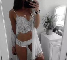 underwear robe bralette lingerie pajamas lace white shirt