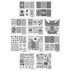 Bundle Monster 10pc Nail Art Polish Manicure Stamping Plates - Musik City Collection ** You can find more details by visiting the image link.