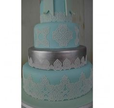 Claire Bowman Cake Lace Mat - Juliet 3D Mat | Lollipop Cake Supplies