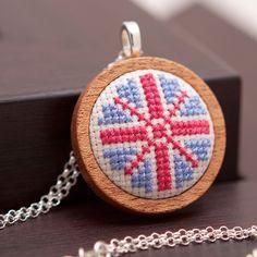 Embroidered Union Jack pendant
