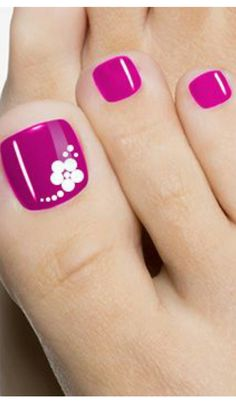 Nails gel, we adopt or not? - My Nails Pretty Toe Nails, Cute Toe Nails, My Nails, Finger Nail Art, Toe Nail Art, Flower Toe Nails, Manicure E Pedicure, Pedicures, Pedicure Ideas